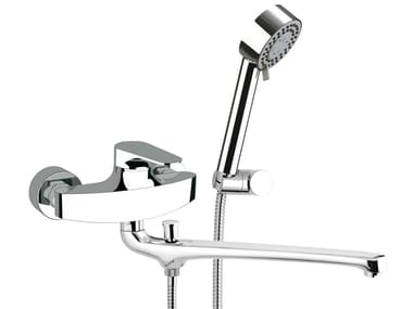 Wall-mounted bathtub mixer with hand shower CLASS LINE   Bathtub mixer