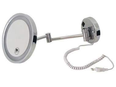 Wall-mounted shaving mirror with integrated lighting HOTELS | Shaving mirror with integrated lighting