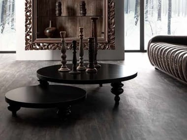 Low round coffee table for living room KEOPE II | Coffee table