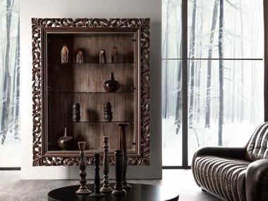 Wall-mounted oak display cabinet GASTON | Display cabinet
