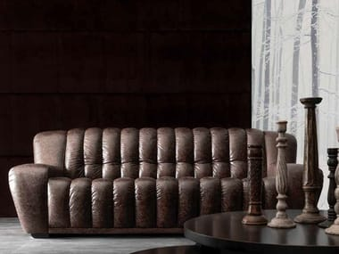 3 seater leather sofa VICTOR