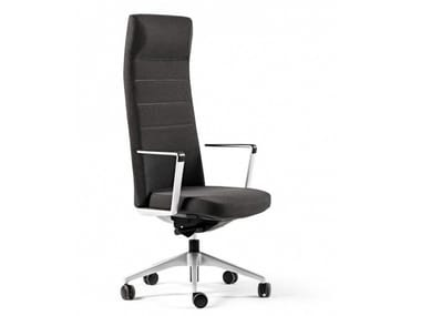 High-back fabric executive chair with 5-spoke base CRON | High-back executive chair