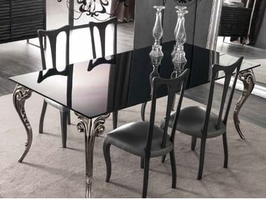 Rectangular lacquered glass table ANTARES | Lacquered table