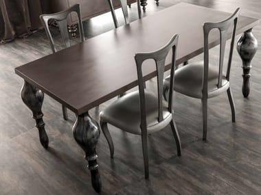 Rectangular oak table ZOE | Oak table