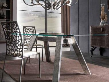Rectangular glass table SOHO | Glass table