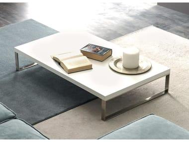 Low rectangular wooden coffee table QUADRA   Coffee table