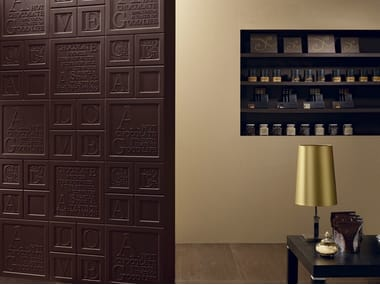 Porcelain stoneware wall tiles CHOCOLATE