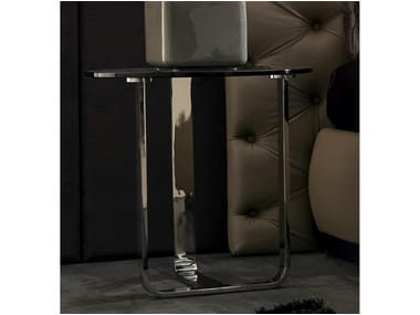 Low round glass coffee table TIAGO | Round coffee table
