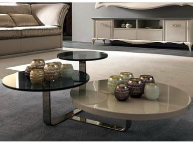 Tiago tavolino rotondo by cortezari for Tavolini da salotto rotondi