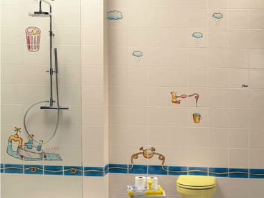 Glazed porcelain stoneware wall tiles H2O