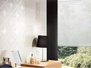 Glazed stoneware wall tiles BRANCO ORIENTE - PRETO BRILHO
