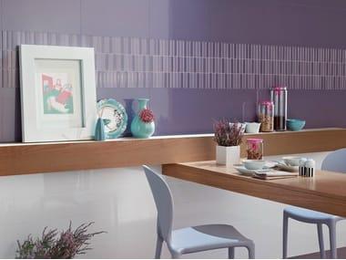 Glazed stoneware wall tiles ILLUSION