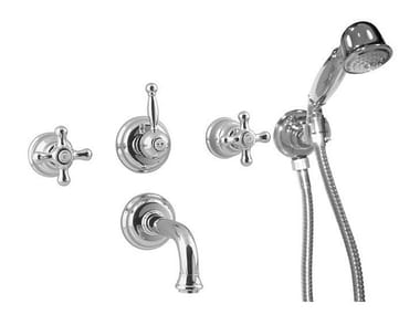 Wall-mounted bathtub tap with aerator with hand shower FEIS | Bathtub tap