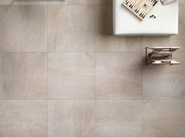 Indoor/outdoor porcelain stoneware flooring with stone effect STONEQUARTZ