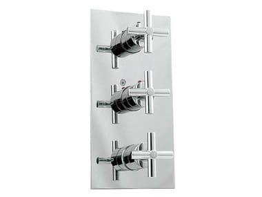 Shower tap with diverter with plate FUTURE | Thermostatic shower tap
