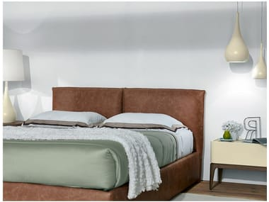 Upholstered bed double bed with upholstered headboard STOCKHOLM | Bed