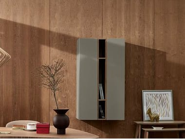 Wall-mounted wooden bookcase STOCKHOLM | Wall-mounted bookcase