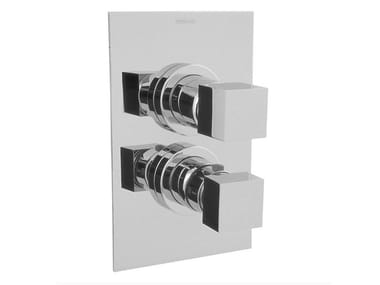 Thermostatic shower tap with plate IRTA | Thermostatic shower tap