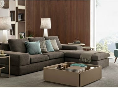 Rectangular coffee table with integrated magazine rack for living room ROME | Coffee table