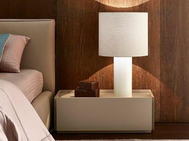 Lampada da comodino in tessuto in stile moderno BROOKLIN