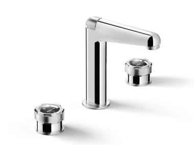 3 hole chromed brass washbasin tap TIMEASTER 3225