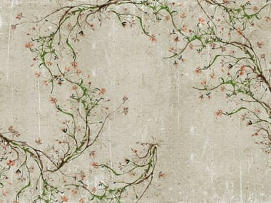 Wall effect bathroom wallpaper with floral pattern NEW ROMANTIC