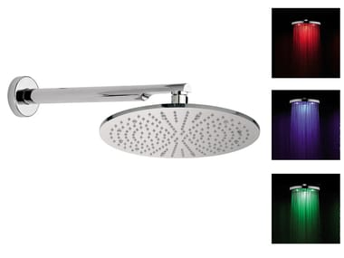 Wall-mounted overhead shower with arm for chromotherapy 15L-NO | Overhead shower for chromotherapy