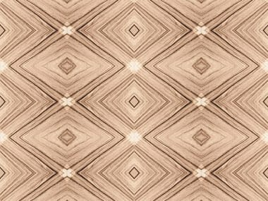 Geometric bathroom wallpaper EBONY