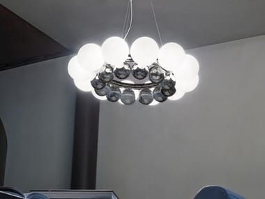 Blown glass pendant lamp 24 PEARLS SP