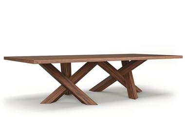 Rectangular wooden meeting table ROGUM