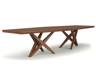 Rectangular solid wood table VITOX