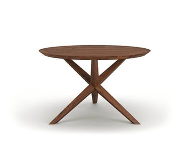 Round wooden dining table VERA
