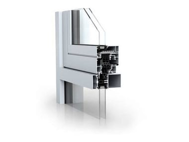 System curtain walls with integrated opening sashes WICLINE 65/75 evo - Integrated sash