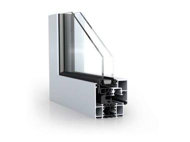 Ventana de aluminio con corte térmico WICLINE 65/75 evo -  Concealed ash