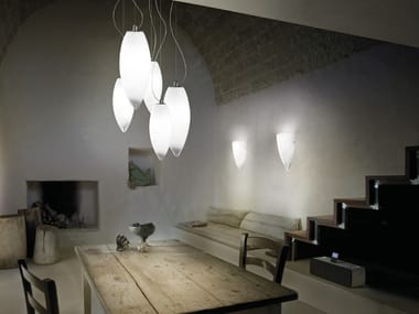 Murano glass pendant lamp BACO SP 5
