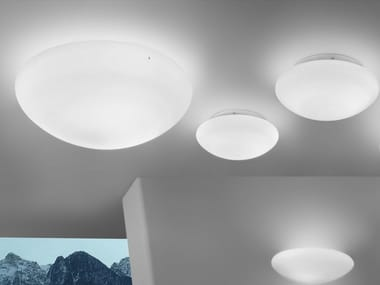 Glass wall lamp / ceiling lamp BIANCA PP/PL