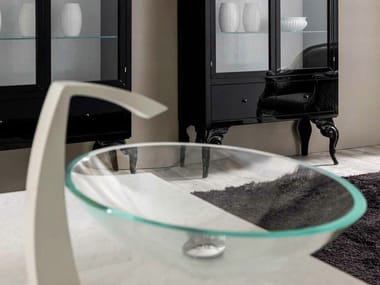 Countertop oval glass washbasin ANTARES | Washbasin