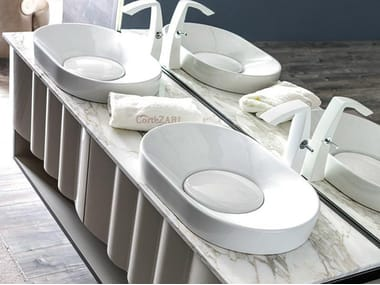Countertop oval ceramic washbasin LEON | Washbasin