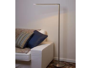 LED nickel floor lamp MATRIX LED P