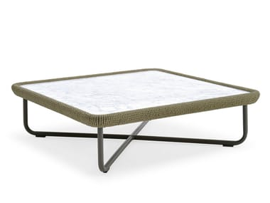 Tavolino quadrato con piano in marmo BABYLON | Tavolino