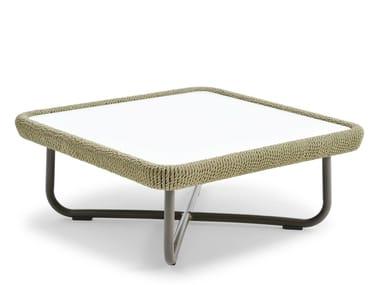Tavolino quadrato con piano in HPL BABYLON | Tavolino quadrato