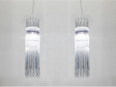 Glass pendant lamp DIADEMA SP D2