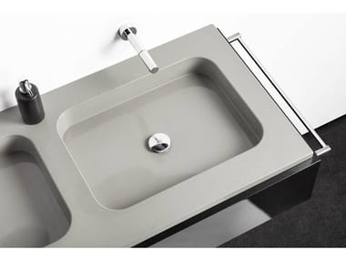 Double rectangular Silestone® washbasin EXCLUSIVE