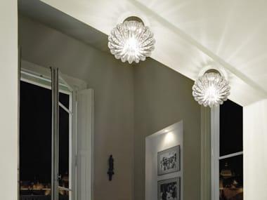 LED direct light Murano glass ceiling lamp DIAMANTE FA