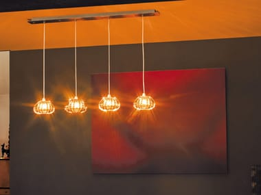 Glass pendant lamp DIAMANTE SP 4