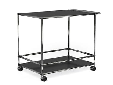 Metal Trolley USM HALLER CONFERENCE ROOM SERVING CART | Steel Trolley