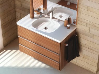 Rectangular Silestone® washbasin ECLUSIVE + 2