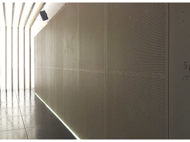 Wood-beton office partition Beton Acustik