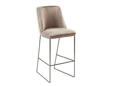 High sled base stool with back CROIX | High stool