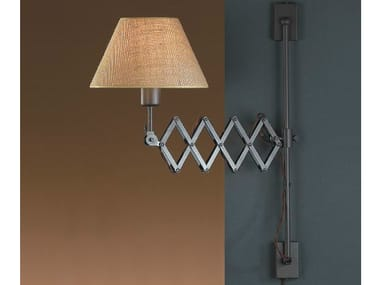 Fabric wall lamp with swing arm LONDON A